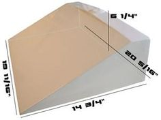 Concrete Countertop RUBBER Sink Mold, Traditional Ramp measurements for a concrete mold