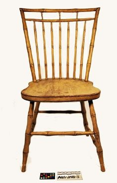Image of A85-248-3, Bamboo turned, birdcage windsor side chair, ca. 1790. MHS Museum Collections
