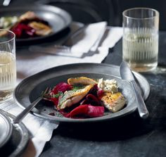 Dhruv Baker's recipe of filleted whole mackerel and marinated beetroot is fresh tasting, simple and delicious.
