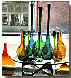 Vintage Glass vessels