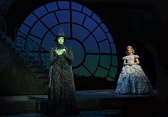 Caroline Bowman and Kara Lindsay onstage at the Gershwin Theatre.(© Joan Marcus)