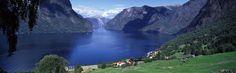 Aurlandsfjord, Sogn og Fjordane county, #Norway. #Panorama