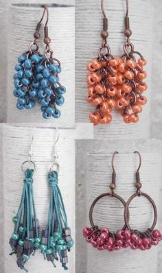 What to do with small amounts of left over seed beads.  #Seed #Bead Blue & Orange together for BSU!