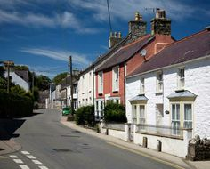 West Street in Newport, Pembrokeshire. The coastal road runs through the village. Great Britain, Newport, Wales, Scotland, Ireland, Coastal, London, Adventure, Mansions