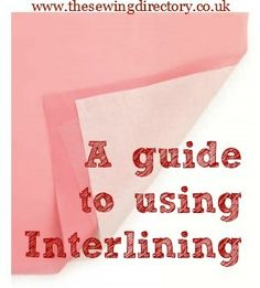 How to sew interlining