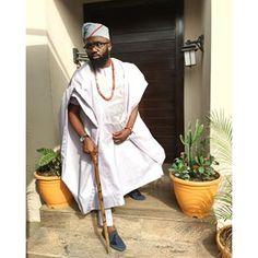 Instagram photo by noble_igwe - #IyaIyaYo  A G B A D A X  C A I N  Agbada : @aramanda  #style #StyleVitae #styleblogger #fashion #styleblogger #stylediary #styleinfluencer #payporte