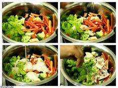 Salad in making