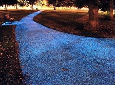 This would be awesome at the winery! STARPATH: An Electricity-Free Alternative to Streetlights - My Modern Metropolis