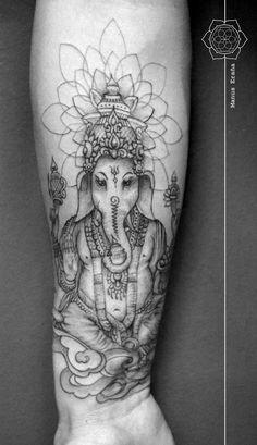 Tattoo Elephant Back Ganesh 46 Ideas - Tattoo Elephant Back Ganesh 46 Ideas You are in the right place about Tattoo Elephant Back G - Wicked Tattoos, Weird Tattoos, Trendy Tattoos, Foot Tattoos, Forearm Tattoos, New Tattoos, Buddhist Symbol Tattoos, Hindu Tattoos, Buddha Tattoos
