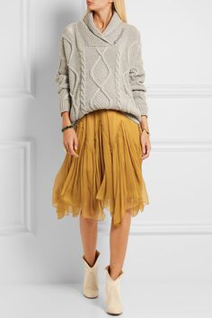 Chloé | Silk-crepon skirt | NET-A-PORTER.COM