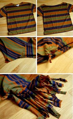 T-Shirt Restyle - 30 Extremely Creative No-Sew DIY Projects