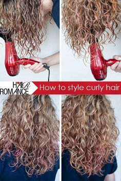 How to style curly hair: Wash your hair. Use a conditioning treatment, or leave your conditioner on for 3-5 minutes. Use a wide tooth...