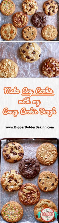Crazy Cookie Dough: You won't believe all of the cookie flavors you can get from one plain cookie dough like Chocolate Chip, Salted Caramel or even Peanut butter!! Click and find out how via @gemstafford
