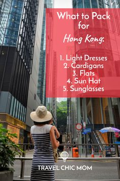What to Pack for Hong Kong Cheat Sheet - Dresses, Cardigans, Flats, Sun Hat…