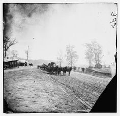 Big Black River Station, Miss. Wagons and sheds - 1864 February.