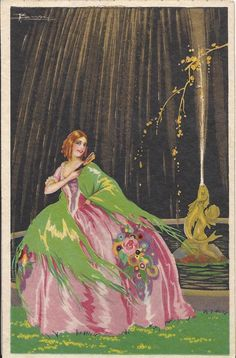 Original Postcard Litograph Art Deco Signed Busi Fun PSA 24 | eBay