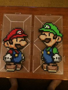 Mario and Luigi perler beads by mconwell
