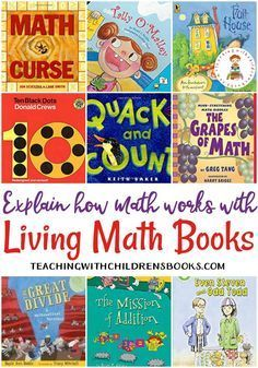 A Few of Our Favorite Living Math Books That Explain How Math Works Living math books explain how math works. This collection features some of the best living books for preschool and elementary math. Math For Kids, Fun Math, Math Help, Learn Math, Math Resources, Math Activities, Math Games, Math Literature, Math Words