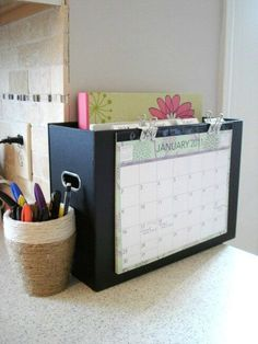 Home Organisation: Kitchen Command Center + Meal Planning Organisers. Could use for post etc.