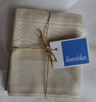Irish Linen Towels - perfect as little hand-towels for the bathroom. Pack or 2 in Celtic Pattern.