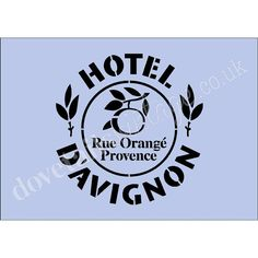 Hotel DAvignon A4 Stencil on 350gsm Re-usable by Dovetailsstencils