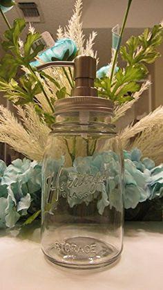 Rare Heritage Ball Jar Countertop Soap or Lotion Dispenser Mason Ball Jars http://www.amazon.com/dp/B00RYMJYP4/ref=cm_sw_r_pi_dp_52sVwb186PH9E