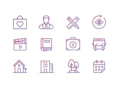 Real Estate Icons Set by Helen Skripchenko