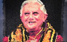 """Niki Johnson's artwork, """"Eggs Benedict,"""" has caused controversy over its portrayal of the pope. The artwork is made of colorful condoms made from condoms and was recently acquired by the Milwaukee Art Museum. Transgressive Art, Milwaukee Art Museum, Manchester Art, Contemporary Artwork, People Art, American Art, Making Out, New Art, Art History"""
