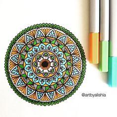 Another mini mandala. #artbyalishia