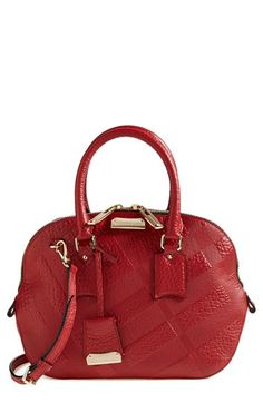 Burberry 'Small Orchard' Leather Satchel available at #Nordstrom