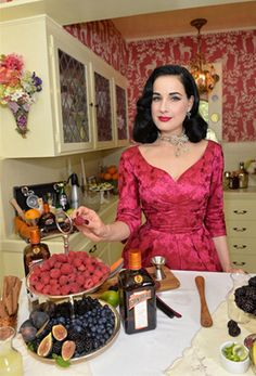 Dita Von Teese holiday hostessing tips.