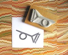 Tristero Symbol / Muted Horn - Hand-Carved Stamp by extase on Etsy Thomas Pynchon, Monster Hands, Cardboard Packaging, Salvaged Wood, Hand Carved, Things To Come, Carving, Symbols, Stamp