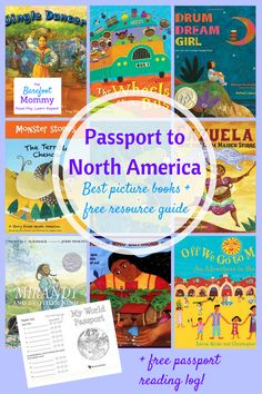 Help your child explore the cultures, folktales, music, and more of Canada, Mexico, USA, Guatemala, Cuba, and Puerto Rico with these picture books. Includes a free resource pack for raising children who are little global citizens!