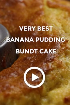 Very best banana pudding bundt cake by oh sweet basil. this easy recipe is great Pound Cake Recipes, Easy Cake Recipes, Sweet Recipes, Dessert Recipes, Best Banana Pudding, Banana Pudding Recipes, Banana Pudding Pound Cake Recipe, Banana Recipes Videos, Banana Pudding Cupcakes