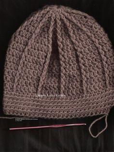 Fiz este gorro para o meu amig Touca De Croche Masculino 67cd87ac133