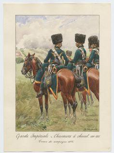 Garde Impériale - Chasseurs à cheval 1804-1815: Tenue de campagne, 1815