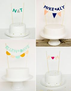 bunting caketoppers