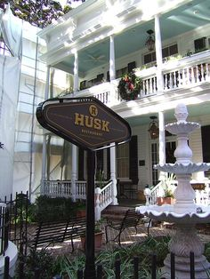 Husk Restaurant - Charleston | Where we had dinner the first night of our honeymoon. Small world. Looks wonderful. I'd like to go there, then go see the fountain, and do the 'ghost tour'.