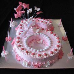 Number 6 cake (girl's birthday)