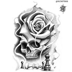 Black And Grey Tattoos, Tattoo Studio, Paper Design, Tattoo Artists, Tattoo Designs, Skull, Instagram, Drawings, Black And Gray Tattoos