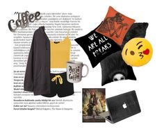 """""""Lazy day featuring DJ Fluffy Pillows"""" by cliffkitty ❤ liked on Polyvore featuring Balmain, Topshop and R13"""