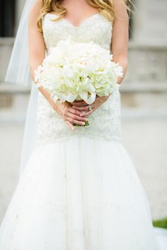 Classic all white #bouquet   Photography: Mikhail Glabets - www.mikhailglabets.com  Read More: http://www.stylemepretty.com/new-england-weddings/2014/04/21/nautical-chic-newport-rhode-island-wedding/