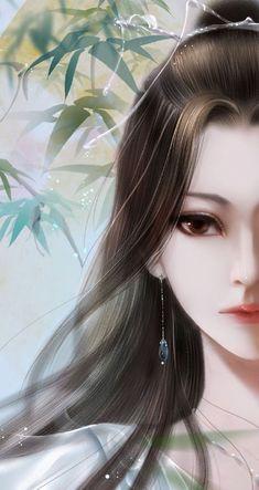 Art Anime Fille, Anime Girl Neko, Anime Art Girl, Pretty Anime Girl, Beautiful Anime Girl, Digital Art Girl, Digital Portrait, Geisha, Ancient Beauty