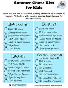 Kids Summer Schedule, Chore List For Kids, Summer Checklist, Chore Chart Kids, Summer Activities For Kids, Summer Kids, Spring Break For Kids, Daily Schedule Kids, Family Chore Charts
