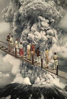 """the eruption..."" Art Print by Hugo Barros on Society6."