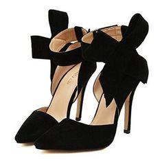 Schwarz Übergröße Bogen Hochzeit Schuhe