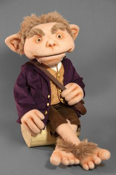 Hobbit Puppet professional ventriloquist puppet - Muppet like Lord of the Rings