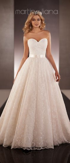 pretty blush wedding dress, Martina Liana