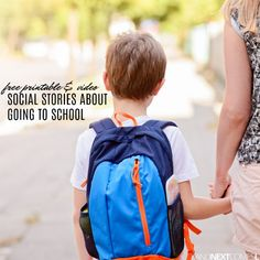 These free social stories for kids are perfect for back to school! Social Skills Lessons, Social Skills Activities, Teaching Social Skills, Language Activities, Life Skills, Special Education Activities, Printable Activities For Kids, Special Education Teacher, Social Stories Autism