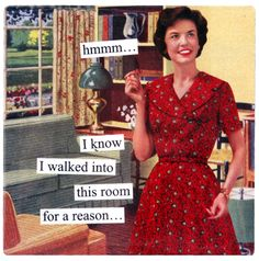 Anne Taintor-Hmmmm I Know I Walked Into This Room for a Reason